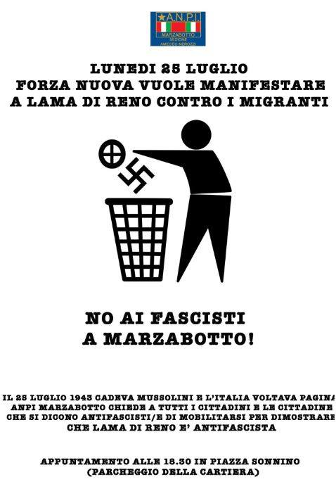 Presidio antifascista 25 luglio 2016 Marzabotto