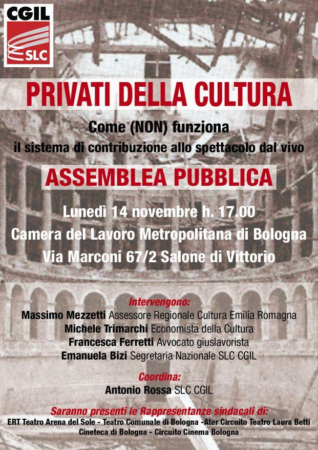 14-novembre-2016-slc-bologna-iniziativa-cultura- Teatro comunale