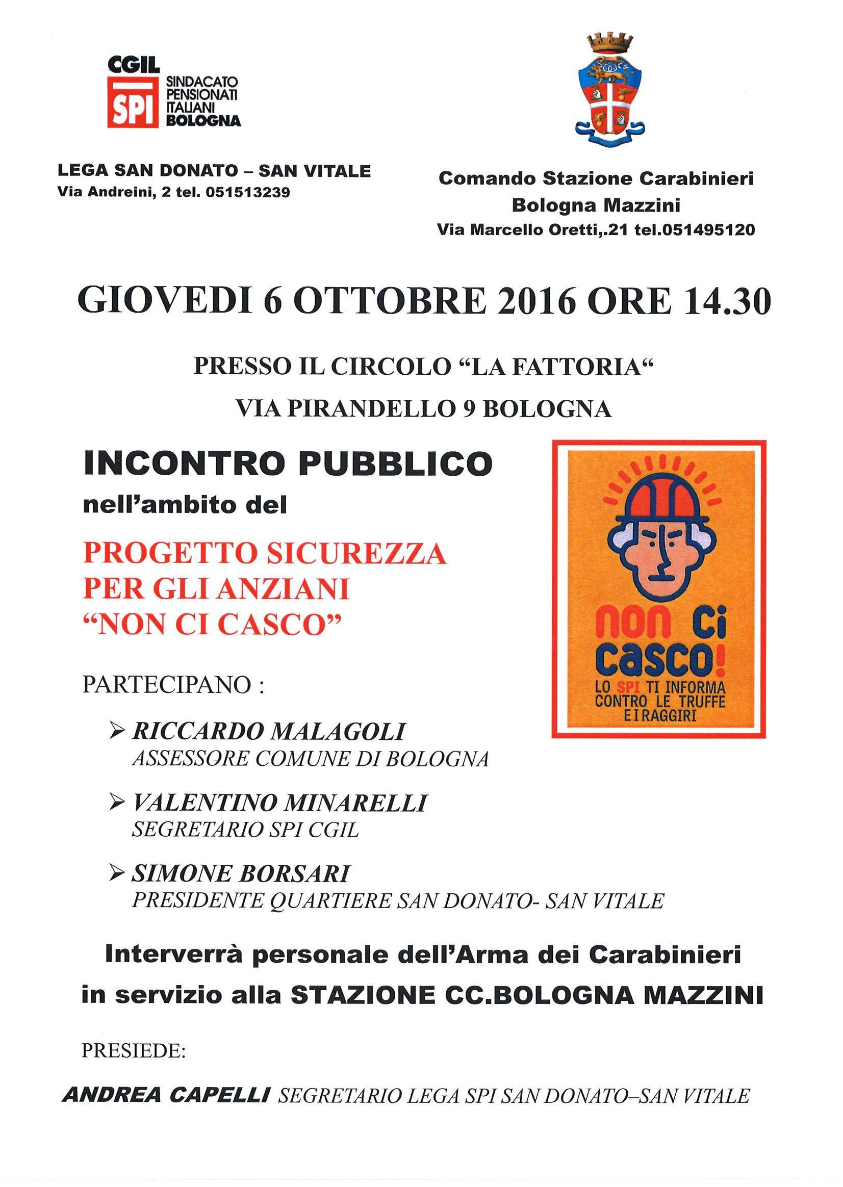 non-ci-casco 6 ottobre spi Bologna